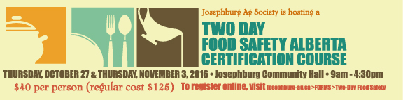 Food Safety Course 2016 – now open for registrations